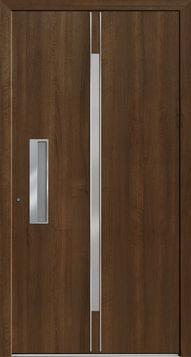 6864.ED Kleur/Folie   Decor Siena Noce Iso-glas   Satinato blank Greep   Geïntegreerde schaalgreep edelstaal V 106 Bijzonderheden   - Opliggende edelstalen lisenen (2x)  Premium panelen worden afhankelijk van de gewenste uitvoering vervaardigd uit GFK, HPL, epoxy, PVC of aluminium platen met een hardschuimen kern. Bij deurpanelen uit deze serie heeft u een nagenoeg onbeperkte keuze in (RAL)kleuren, (renolit)folies, beglazingen en modellen. Siena, Door Handles, Doors, Home Decor, Door Knobs, Decoration Home, Room Decor, Home Interior Design, Home Decoration