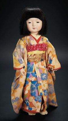 Japanese Paper Mache Doll with Rare Body and Original Costume $300+ Auctions Online | Proxibid