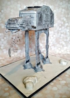 Gravity Defying Star Wars AT-AT Imperial Walker cake! Carved Realistic!