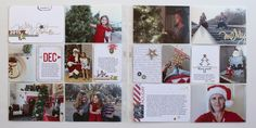 Pages created by Mindi Niebuhr, featuring the Oh What Fun Christmas Value Kit (retired), Seasonal Snapshot 2015 (by Stampin' Up!)