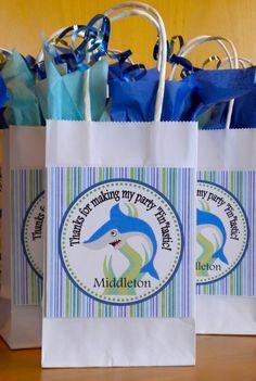Shark DIY Printable Favor Tag by pluffmuddstudio on Etsy, $5.00