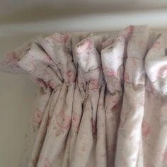 Peony & Sage 'Georgian Roses' Fabric on a gathered heading