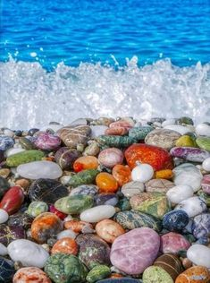 Colored pebbles in Pebble Beach, Crete Island, Greece Nature Wallpaper, Wallpaper Backgrounds, Crete Island Greece, Pebble Beach, Travel Aesthetic, Greece Travel, Beach Trip, Land Scape, Sea Shells