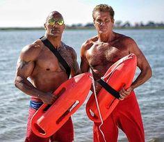 """Baywatch"": David Hasselhoff & Dawyne Johnson"