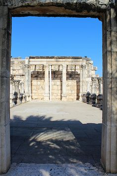 *ISRAEL~ Ruins of the Great Temple in Capernaum ISRAEL #Israel #Galilee #archaeology