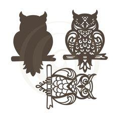 Papercut Layered Owl SVG | Cut & More | Craft Genesis Vinyl Cutting, Paper Cutting, Silhouette Studio Designer Edition, 3d Puzzles, Create And Craft, Owl Art, Cute Owl, Cricut Creations, Craft Fairs