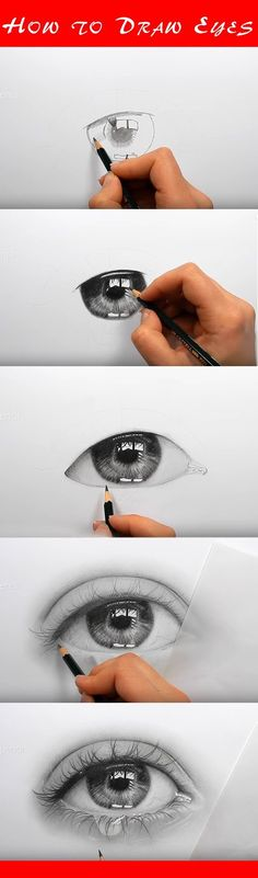 -Draw realistic eyes with this step-by-step instruction. Full drawing lesson Draw realistic eyes with this step-by-step instruction. Full drawing lesson See it Drawing Eyes, Drawing Sketches, Cool Drawings, Sketches Of Eyes, Daisy Drawing, King Drawing, Male Drawing, Drawing Rooms, Amazing Drawings