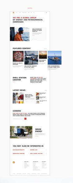 Shell — corporate site on Behance Energy Companies, Shells, Web Design, Landing, Behance, Conch Shells, Design Web, Seashells, Sea Shells