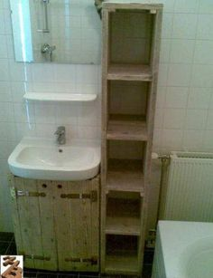 steigerhout badkamermeubel - Google zoeken