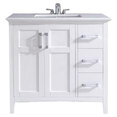 """Simpli Home Winston Single 36"""" Bathroom Vanity Set"""