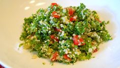 Taboulé Vegetable Salad, Vegetable Recipes, Couscous, International Recipes, Green Beans, Side Dishes, Grains, Salads, Rice