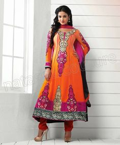 New Party Wear Indian Anarkali Frocks 2014 By Natasha Couture | 7pm Dress