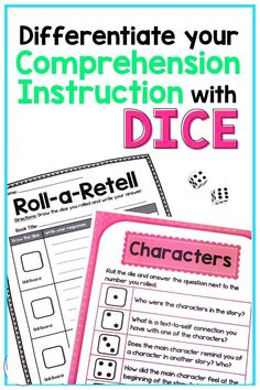 Are you looking for fun activities for elementary students to practice retelling fictional texts? Read on to learn about a perfect activity to work on story elements and plot in an engaging way! This dice game can be used to answer comprehension questions during reading workshop, literacy centers, reading buddies, & guided reading. The various printables and editable boards allow you to differentiate questions based on students' ability levels. #thereadingroundup #literacycenters #retelling Reading Games For Kids, Reading Buddies, Small Group Reading, Reading Resources, Summarizing Activities, Teaching Activities, Guided Reading Activities, Text To Self, Readers Notebook