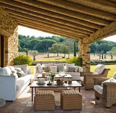 Trendy Rustic Outdoor Furniture Back Yards Covered Patios Ideas Patio Roof, Pergola Patio, Backyard Patio, Pergola Kits, White Pergola, Patio Chairs, Pergola Designs, Pergola Ideas, Backyard Landscaping