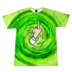 Anybody who watches cartoons knows that Rick and Morty is the show to watch. This t-shirt features Rick flipping the bird from another dimension. We love Rick because he is an alcoholic and a genius a