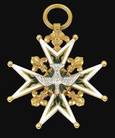 Ordre du Saint-Esprit et Ordre de Saint-Michel, croix double en or émaillé, probablement réalisée entre 1791 et 1814 et provenant probablement de Louis-Philippe d'Orléans (1773-1850), futur roi Louis-Philippe