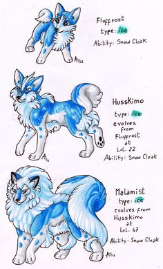 Fakemon -Husky Dogs by *ARVEN92 on deviantART