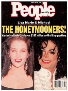 Image result for michael jackson wedding to lisa marie presley magazine articles