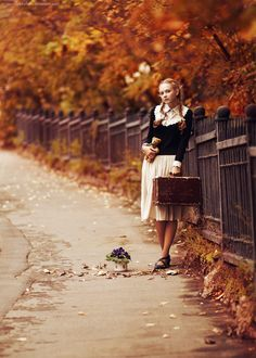 Autumn Town III by Snowfall-lullaby on DeviantArt Hello Autumn, Autumn Day, Autumn Leaves, Autumn Song, Nothing Gold Can Stay, Autumn Photography, Ethereal Photography, Senior Photography, Photography Ideas