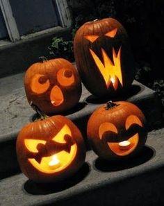 Pumpkin Faces Carved Carving Pumpkins Decor Hack Simple Ideaspumpkin