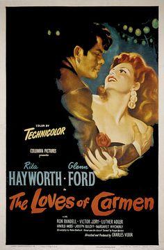 THE LOVES OF CARMEN, Glenn Ford, Rita Hayworth, 1948