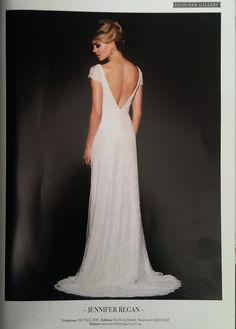 The elegant back of one Jennifer Regan gown in the 6th annual edition of Luxury Weddings magazine