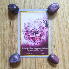 "Today's card is Empowered Service and Rhodonite from the gorgeous Crystal Mandala Oracle deck by Alana Fairchild. This card says: ""We bring you the blessing of empowered service. It is your time to assume your place in the world, at the table of the masters, who serve the loving hand of the Divine. Read more on the blog #cardaday #cardreading #crystalmandalaoracle #alanafairchild"
