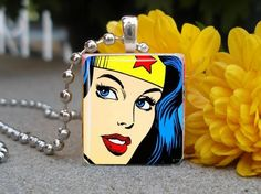 wonder woman pendant.  Hint, hint to my jewellery making friends! My birthday is in June!