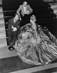 Alfred Hitchcock and Grace Kelly on set of To Catch a Thief.