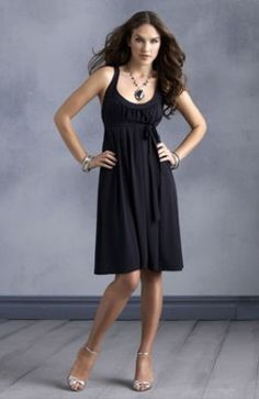 Knee-length Scoop Sleeveless Bridesmaid #Dress $74
