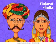 Find Vector Design Gujarati Couple Traditional Costume stock images in HD and millions of other royalty-free stock photos, illustrations and vectors in the Shutterstock collection. Thousands of new, high-quality pictures added every day. Indian Illustration, Funny Illustration, Art Room Posters, Rajasthani Art, Folk Art Flowers, Couple Painting, Quirky Art, Madhubani Art, Indian Folk Art