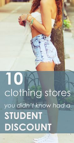 Great list of stores... I didn't know they offered student discounts!