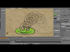 Traditional frame by frame 2D animation in Blender/ Grease Pencil - YouTube