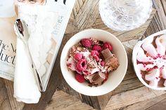 chocolate & raspberry ice cream