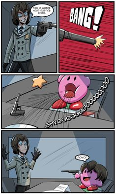 "Kirby Memes 839851030491958287 - ""Comic commission to continue the previous Kirby comic"" Super Smash Bros Memes, Nintendo Super Smash Bros, Video Games Funny, Funny Games, Creepypasta Anime, Persona 5 Memes, Kirby Memes, Funny Comic Strips, Nintendo Characters"