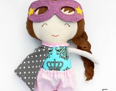 ORDERS PLACED TILL 7TH DECEMBER 2016 WILL DEFINITELY ARRIVE TILL XMAS! For orders placed after 7th December please contact me for details. NAME TAG-Personalized superhero doll, custom name on doll with hand embroidered name tag, on the superhero cape or on doll clothing Personalize your superhero doll with a name tag. How to get the name tag? - Choose your favourite La Loba superhero doll - add this listing with the name tag to your cart as well At checkout, please leave me any requests in…
