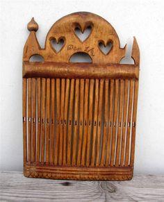 Antique-1800s-Swedish-Wood-Tape-Loom-Weaving-Brides-Gift-Hearts-Sweden