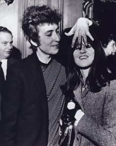 Bob Dylan with Cathy McGowan, London 1965