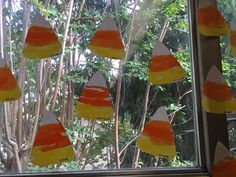 Candy corn craft - triangle - October - Terrific Preschool Years