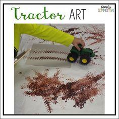 farm preschool activities: painting, making tractor tracks science for preschoolers preschool activities preschool crafts kindergarten Farm Animals Preschool, Farm Animal Crafts, Farm Crafts, Preschool Themes, Preschool Crafts, Preschool Programs, Preschool Lessons, Farm Lessons, Farm Activities