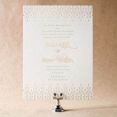 The playful Annadel invitation suite by Ellie Snow for Bella Figura is on sale during the month of April