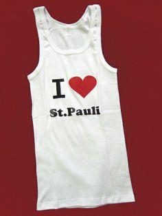 TANKTOP++I LOVE ST.PAULI++ von pension auf DaWanda.com