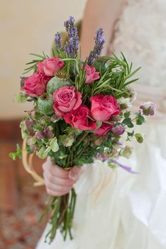YL EVENT DESIGN, Rye. Tea roses and herbs.  Photo by Aida Krgin Photography  Wedding Bouquets
