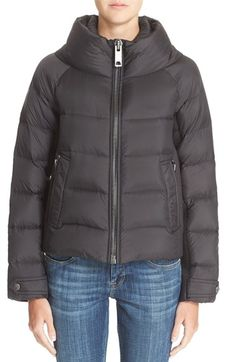 Burberry Brit 'Townfield' Short Goose Down Jacket available at #Nordstrom