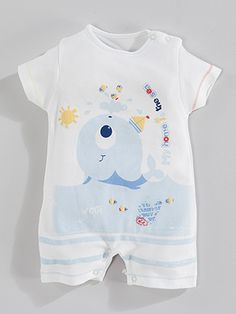 Wogi Baby Kısa Kollu Tulum-Mavi