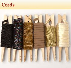 Neat way to organize your sewing trims/cords