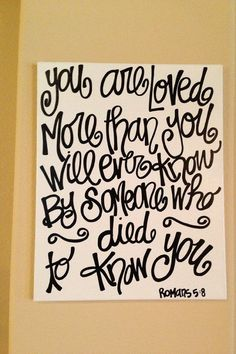 Bible verse canvas painting in black and by Trideltdarling1812