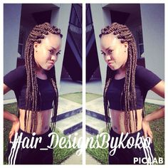 Jumbo box braids done by the one and only!