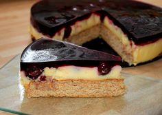 Pudingos meggytorta (diabetikus) recept foto Diabetic Recipes, Pie Recipes, Healthy Recipes, Healthy Food, Health Eating, Oreo, Tart, Sandwiches, Sweet Treats