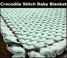 Crocodile Stitch Baby Blanket free #crochet pattern from @BonitaPatterns